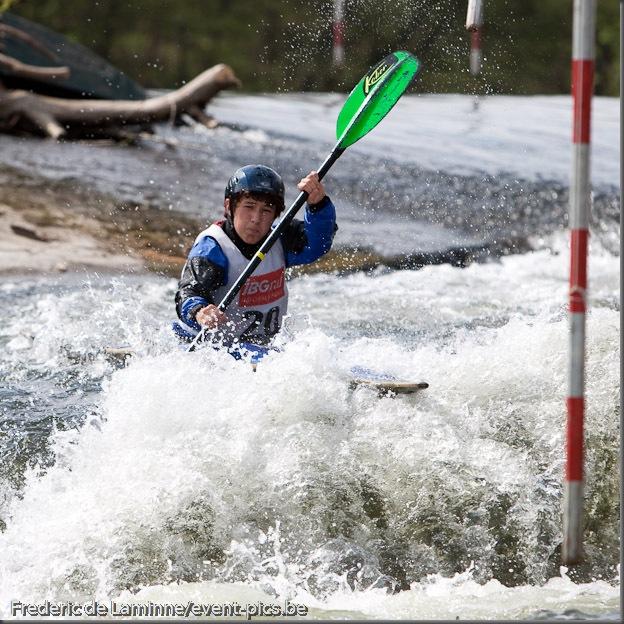 Slalom du Mava, Championnat de Belgique 2010 (kayak)