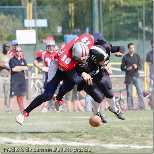 BFL Championship : Liege Monarchs - Andenne Bears (50-0)