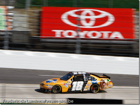 toyota driver Kyle Busch (18) is see during the Goody's Fast Relief 500 at Martinsville