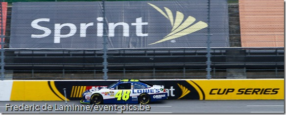 Jimmie Johnson durant sa session de qualif