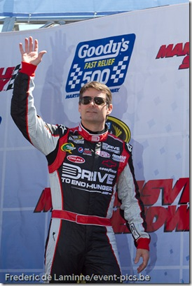 Jeff Gordon on stage prior to the Goody's Fast Relief 500 at Martinsville