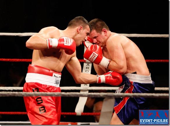 Boxe : Bilal Laggoune (champion de Belgique des poids lourds) - Tomas Bajzath (Hongrie)
