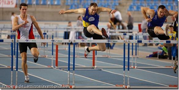 Marlier Sebastien du SMAC, 60m haies Hommes